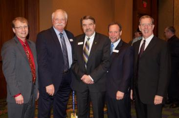 The new NAWG officer team, from left, Past President Erik Younggren, First VP Paul Penner, President Bing Von Bergen; Second VP Brett Blankenship; Secretary-Treasurer Gordon Stoner. (Photo courtesy NAWG)
