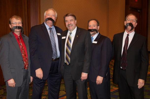 The NAWG officer team has a little fun with their new President Bing Von Bergen and his signature mustache. (Photo courtesy NAWG)